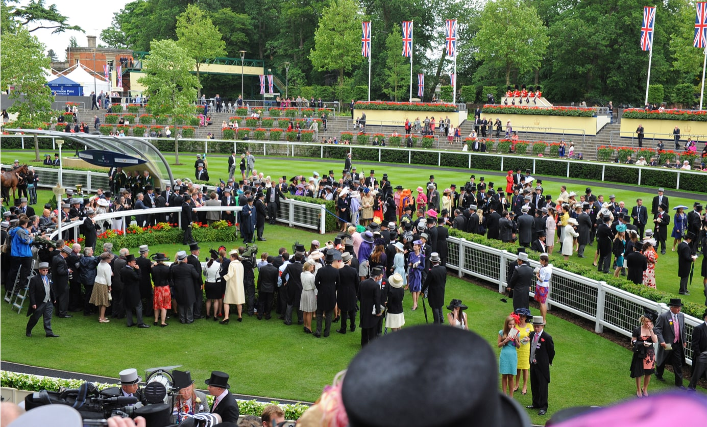 Racegoers at Ascot racecourse